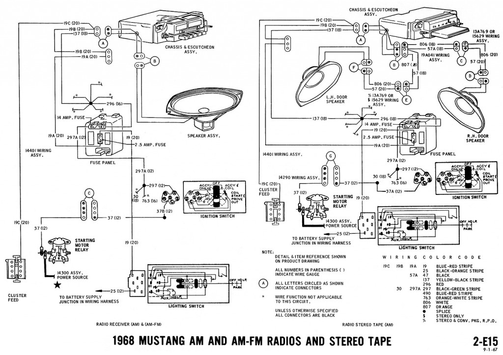 Power for radio? | Vintage Mustang Forums | 1998 Mustang Radio Wiring Diagram |  | Vintage Mustang Forums