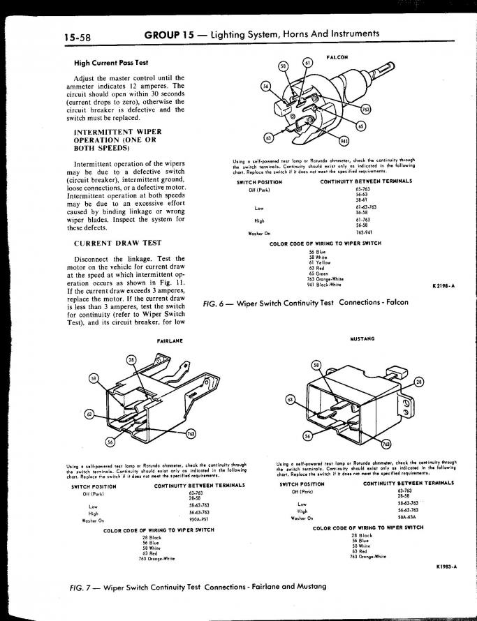 67 Wiper Wiring Help Vintage Mustang Forums