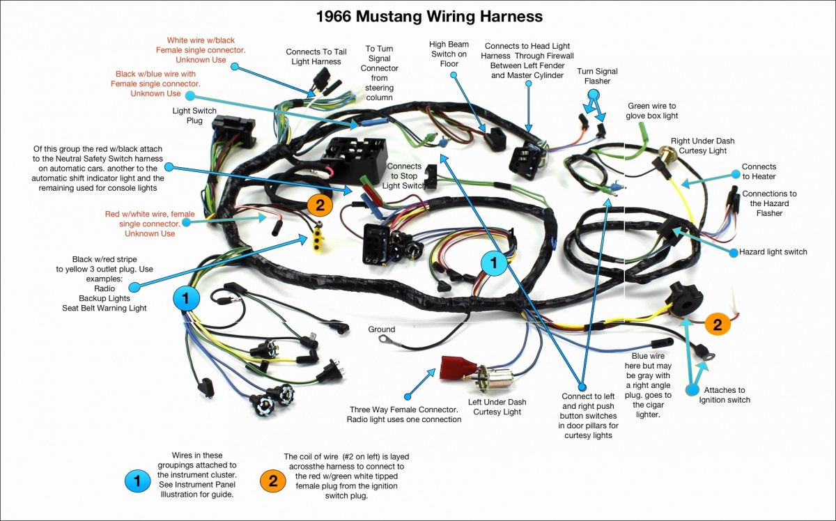 Turn signal plus in dash harness | Vintage Mustang Forums | Turn Signal Wiring Diagram For 1966 Mustang |  | Vintage Mustang Forums