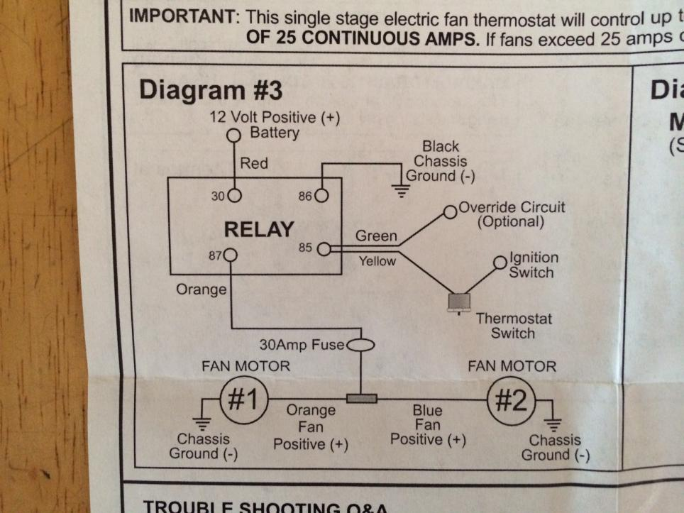 [DIAGRAM_0HG]  Derale Controller/Countour Fan Wiring Help needed | Vintage Mustang Forums | Derale Relay Wiring Diagram |  | Vintage Mustang Forums