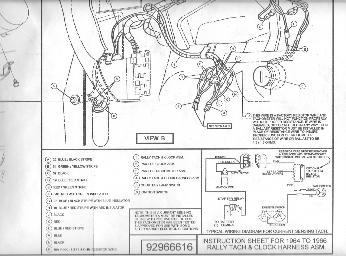 [FPER_4992]  Questions about installing a Scott Drake Rally Pac | Vintage Mustang Forums | 1966 Mustang Rally Pac Wiring |  | Vintage Mustang Forums