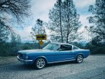 Old Blue, a 1965 Mustang Fastback